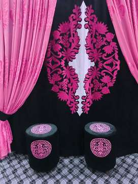 Motive. Curtains. Blinds. Fabric. Double curtains