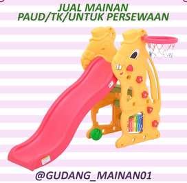 Mainan Indoor Playground Perosotan, Kulintang, dan Ring Basket Murah