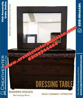 Dressing table brand new center table iron stand sofa cum bed Wardrobe