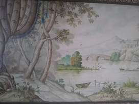 Beautiful painting old antique type