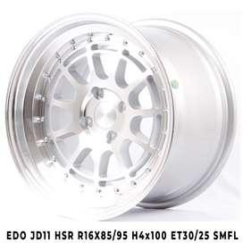 velg mobil type EDO JD11 HSR R16X85-95 H4x100 ET30-25 SMFL