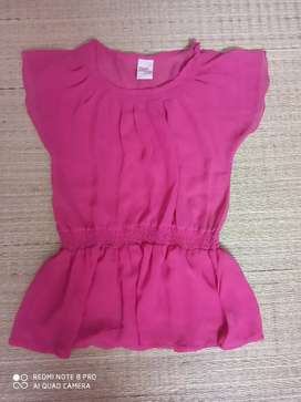 MAX pink frilly top