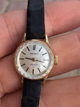 Gold Seiko ladies watch
