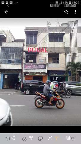 Dijual ruko di jl Sutomo Medan