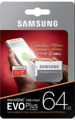 Sumsung 64 GB Memory Card