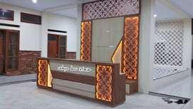 Mejaa  Resepsionis , Model Custom design ,