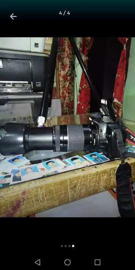DSLR 500D with 75-300mm leanse fresh condition