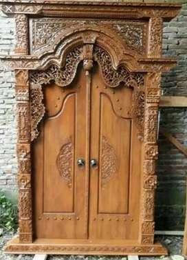 pintu gbyok jawa ukir