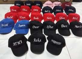 Topi anak bordir nama anak