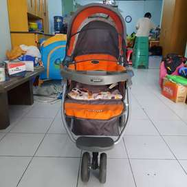 [NEGO] STROLLER ORANGE ABU PLIKO [SECOND]