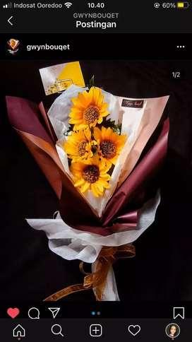 Buket wisuda / buket bunga afritical / buket bunga plastik