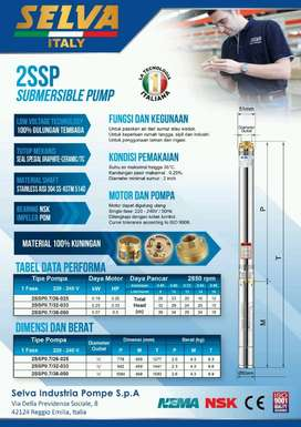 pompa celup/submersible pump 2in 2ssp0.7/32-033