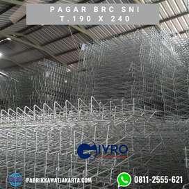 PAGAR BRC SNI (HOT DIP GALVANIS) 190 x 240