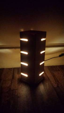 wooden solid lamp