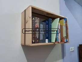 Rak Buku Jati Belanda Kotak