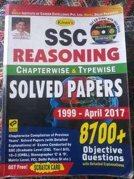Ssc reasning book, 1997 to till date, kiran publication