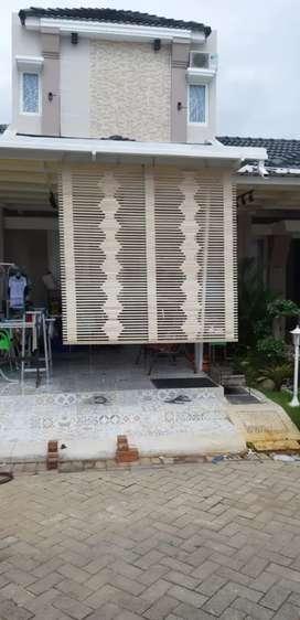 Tirai bambu,rotan enau,tirai kayu