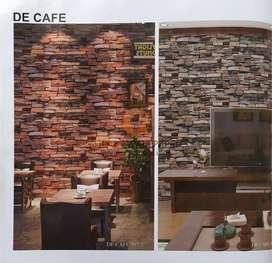 Wallpaper Dinding PREMIUM Motif Batu Alam De Cafe 08