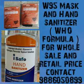 Mask and sanitizer