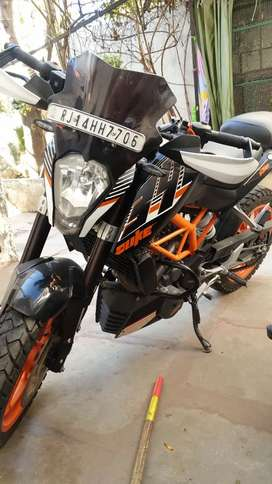Ktm 390 with all riding accessories