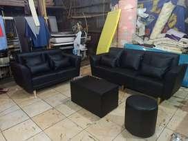 Sofa ready stok siap kirim sofa 3 n 2 seater + meja + puff