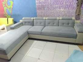 Lelang stok sofa L modern ukuran 260×80×200