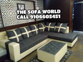 New stone model sofa with center table, 5 years warranty
