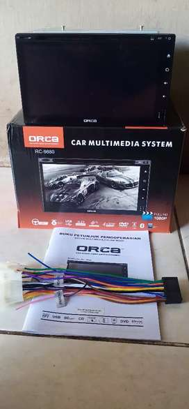 Head unit double din ORCA layar fullglass full HD +kamera+pasang