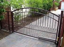 Layanan pintu pagar besi modis dan terpercaya