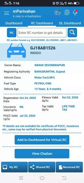 Ac running ,CNG and peteol running and PUC and insurance new she