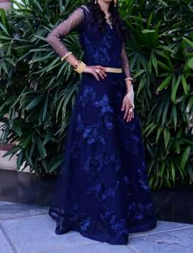 Navy blue one piece gown dress,only one time use