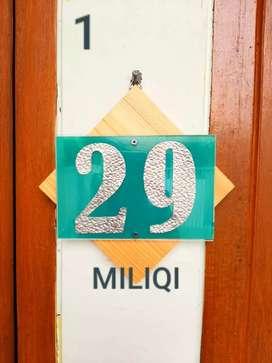 Nomor rumah/Nomor kamar plus tempat kunci rahasia dibaliknya