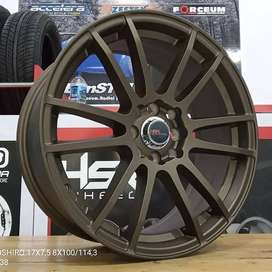 Velg Mobil Jazz Livina Freed Visto dll Ring 17 HSR NOSHIRO H4X100-114,