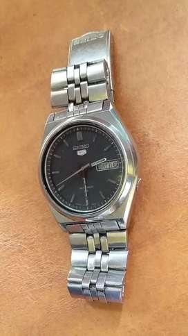 Seiko 5 otomatis 7009 (black) full original