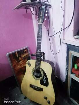 Givson gitar with stend