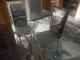 Used dining table urgent for sale due to shifting