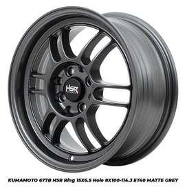 ready stok kumamoto hsr ring 15 pcd8x100-114,3 matt grey