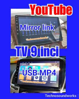 Tv 9 in dhd Android YouTube usb double din tape for sound audio jok