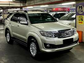 Toyota Fortuner G Lux 2013 low km 60rb asli