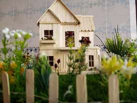 Handmade popsicle stick dream house for sale