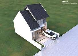 Jual rumah murah mewah mezzanine dibawah 600 juta Cilebut Bogor