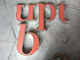 Font/Huruf Timbul Stainless Bisa Untuk Logo/Simbol