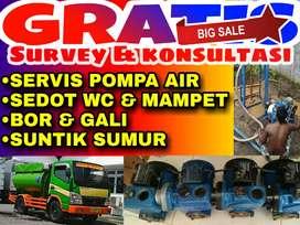 Servis service pompa air saluran mampet sedot wc bor gali suntik sumur