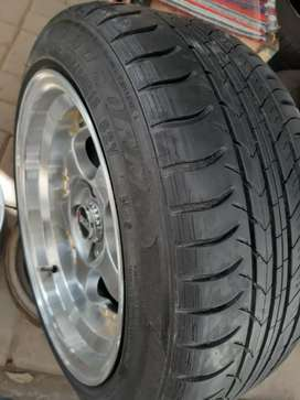Tyre and rim sports