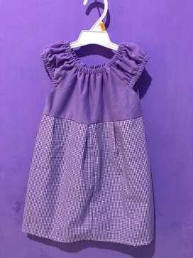 Dress anak perempuan / Baju Bayi / Baju bayi harian 1 - 2 Tahun