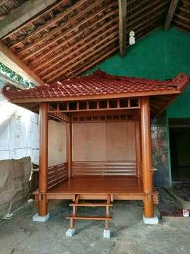 Saung Gazebo kayu kelapa ukuran 2,5x2,5m ready stok