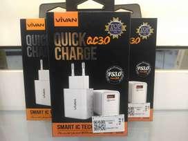Vivan Adapter Charger QC 3.0 1 Port