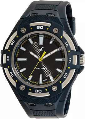 Fastrack silver dial men watch
