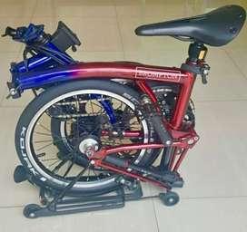 Sepeda Brompton ninestreet edition second rasa baru