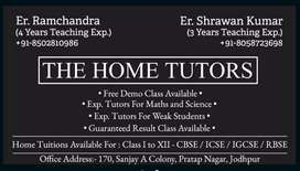 Home Tutors Available For Class 1 to 12